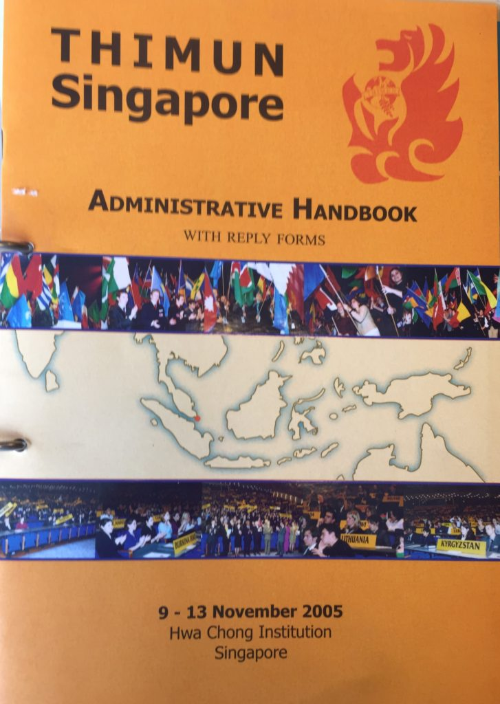 1st THIMUN Singapore Conference in the Hwa Chong Institution in Singapore